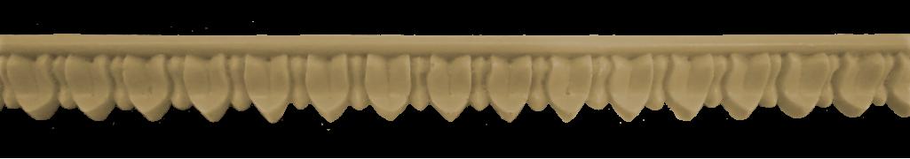 Декоративний погонаж з поліуретану П-6 (плоский)
